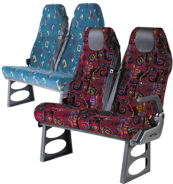 orion seat belt equipped bus and coach seating